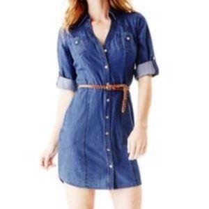 Guess Adaline Denim Shirt Dress